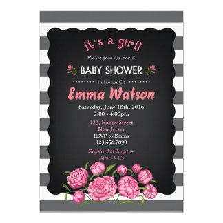 Blumen-Baby-Duschen-Einladung Karte