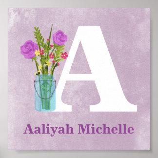 Blumen Ball-Maurer-Vasen-in der kundenspezifischen Poster