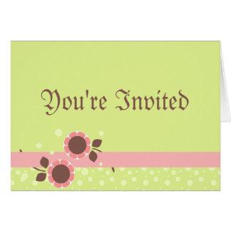Blumen-Band-Baby-Duschen-Einladung Karte