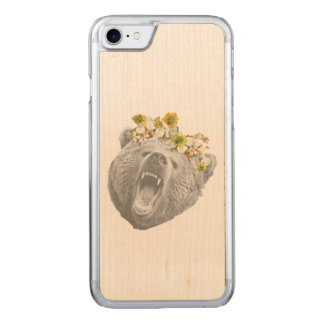 Blumen-Bärn-Fall Carved iPhone 8/7 Hülle