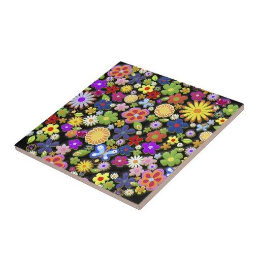 Blumen-Baum Keramikfliesen