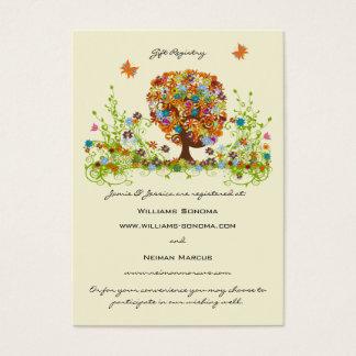 Blumen-Baum gut, Website-u., der Geschenkladen Jumbo-Visitenkarten