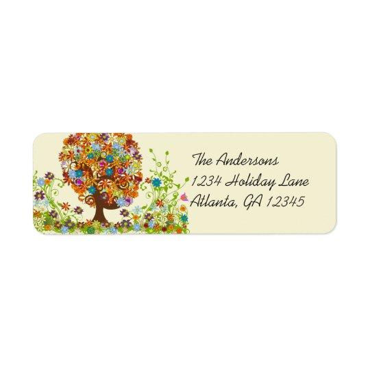 Blumen-Baum-Strudel-Rücksendeadresse