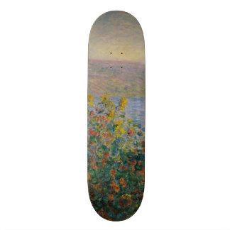 Blumen-Betten bei Vetheuil durch Claude Monet Individuelle Skatedecks