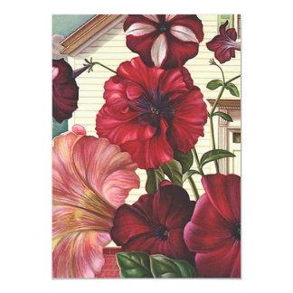 Blumen-blühende bewegte neue Adressen-Mitteilungen 12,7 X 17,8 Cm Einladungskarte