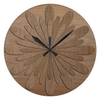 Blumen-Blumenblatt-runde große Wand-Uhr Große Wanduhr