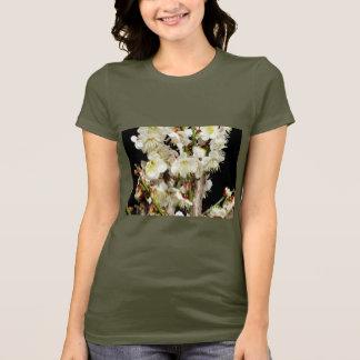 Blumen-Blumenblumenstrauß-blaue weiße T-Shirt