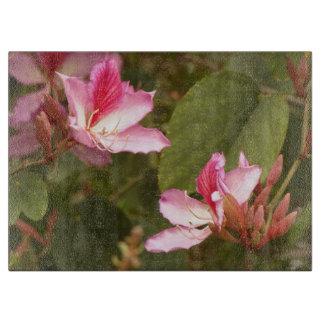Blumen-Blumengarten-Blüten Schneidebrett