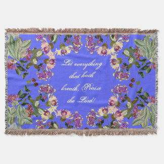 Blumen-Blumengeißblatt-Lob-Gottthrow-Decke Decke