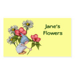 Blumen, Blumengeschäft: Niedliches Gnome-Mädchen, Visitenkarten