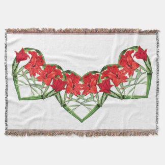 Blumen-Blumenherzen der Gladiolas Throw-Decke Decke