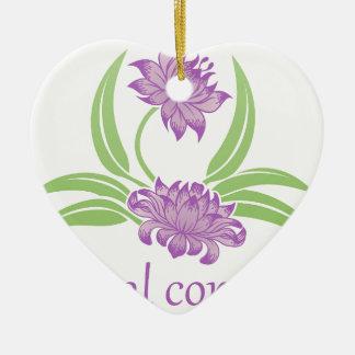 Blumen-Blumenikone Keramik Ornament