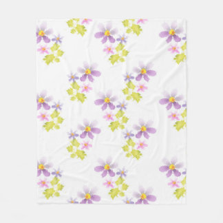 Blumen-Blumenmosaik 2 Fleecedecke