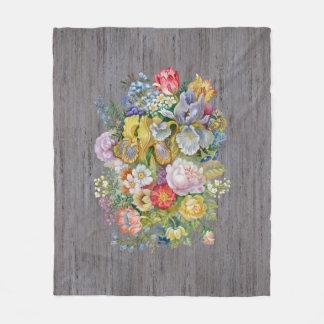 Blumen-Blumenstrauß-Fleece-Decke Fleecedecke