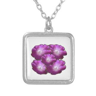 Blumen-Blumenstrauß-Geschenk-Grüße des Versilberte Kette