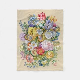 Blumen-Blumenstrauß-kleine Fleece-Decke Fleecedecke