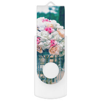 Blumen-Blumenstrauß-Liebe-und USB Stick