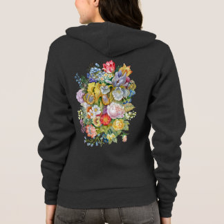 Blumen-Blumenstrauß-ZipHoodie Hoodie