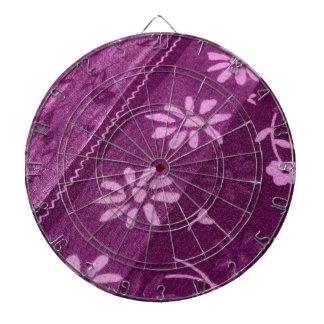 Blumen-Blüten-Rebe-lila rosa Duschen-Party Dartscheibe