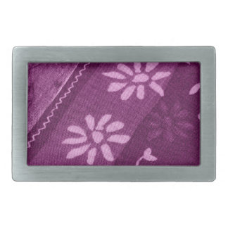 Blumen-Blüten-Rebe-lila rosa Duschen-Party Rechteckige Gürtelschnallen