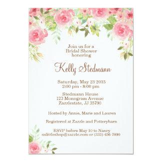 Blumen-Brautpartyeinladung 12,7 X 17,8 Cm Einladungskarte