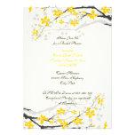Blumen-Brautpartyeinladung der Magnolie gelbe