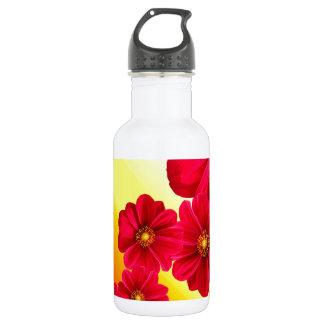 Blumen-bunte Muster-Frühlings-Garten-Dahlie-Kunst Trinkflasche