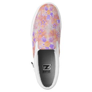 Blumen-Clowns-Muster Slip-On Sneaker