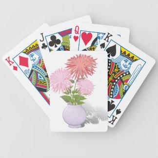 Blumen-Dahlien in einem Vase Bicycle Spielkarten
