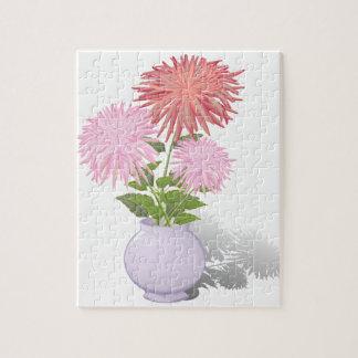 Blumen-Dahlien in einem Vase Puzzle