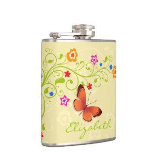 Blumen-Dekor-1A eingewickelte Flasche