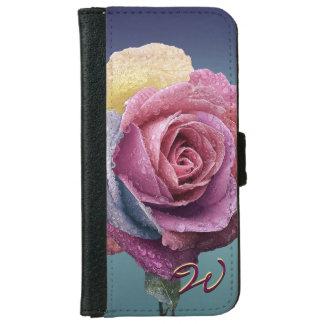 Blumen-Dekor 87 iPhone 6 Geldbeutel Hülle