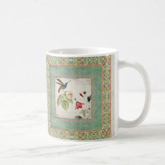 Blumen der Chinoiserie-Vintage Kolibri-n Kaffeetasse