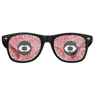 Blumen-Dschungel-Rot Partybrille