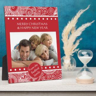 Blumen-Dschungel-WeihnachtsSet - Briefpapier und Fotoplatte