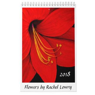 Blumen durch Kalender Rachel Lowry 2018