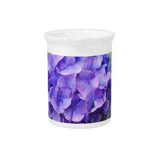 Blumen eines Franzosen Hydrangea (Hydrangea Krug