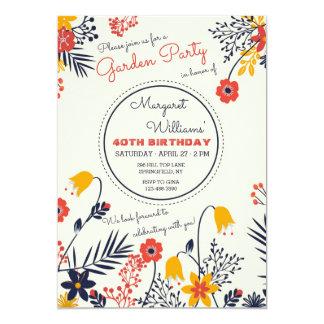 Blumen-Einladung mit leuchtenden Augen 12,7 X 17,8 Cm Einladungskarte