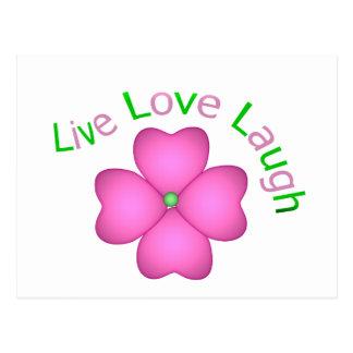 Blumen-Entwurf - LiveLiebe-Lachen Postkarte