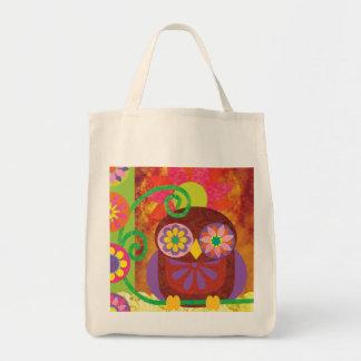 Blumen-Eulen-Tasche Einkaufstasche