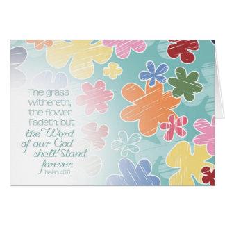 Blumen Fadeth Notecard Karte