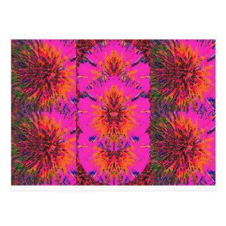 Blumen-Farbe schattiert Postkarte
