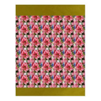 Blumen-Farbe schattiert Postkarten