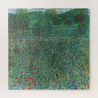 Blumen-Feld in Litzlberg Klimt, Vintage Landschaft Puzzle