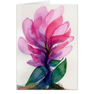 Blumen-Finger Notecard Karte