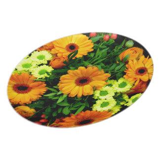 Blumen Flache Teller
