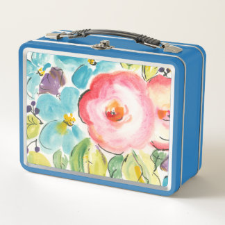 Blumen-Freude II Metall Lunch Box