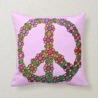 Blumen-Friedenszeichen-Symbol hübsch Kissen