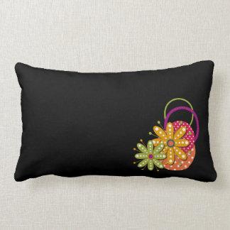 Blumen-Funky Retro Spaßlumbar-Kissen Zierkissen
