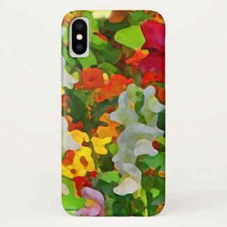 Blumen-Garten abstrakter iPhone X Mit Blumenfall iPhone X Hülle